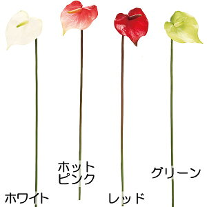 造花 スプレンダ アンスリウム 全長50cm 24本セット アンスリューム 大紅団扇 人工観葉植物 アーティフィシャルフラワー 花材 アレンジ