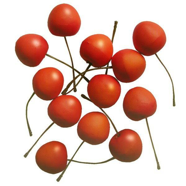 【食品サンプル】チェリー・全長7cm・36個セット(1袋12個×3袋)(さくらんぼ/サクランボ/甘果桜桃)(フェイクフード/食品模型/ディスプレイ/アレンジ)