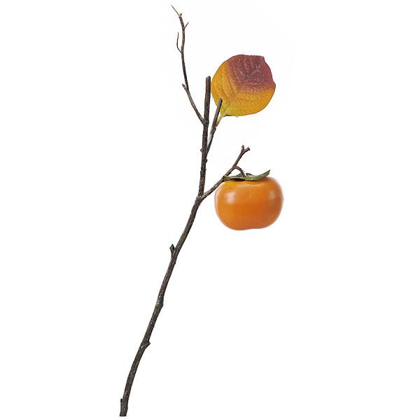 【食品サンプル】柿・全長41cm・3本セット(かき/カキ/果物/フルーツ)(フェイクフード/食品模型/オブジェ)(ディスプレイ/アレンジ/装飾/造花/花材)