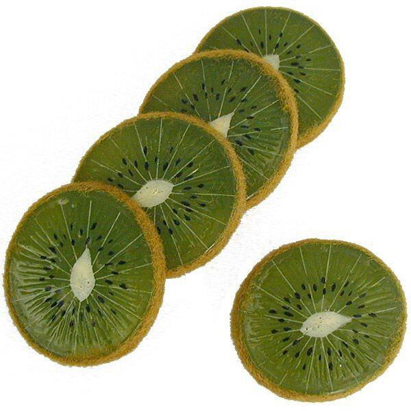 【食品サンプル】キーウィー・スライス・直径5cm・10枚セット(1袋5枚×2袋)(キウイフルーツ/支那猿梨/果物/フルーツ)(フェイクフード/食品模型/オブジェ)