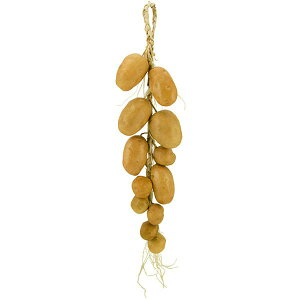 【食品サンプル】 ポテト ストリング 全長60cm 2本セット じゃがいも ジャガイモ 野菜 フェイクフード 食品模型 オブジェ 吊るし ディスプレイ 装飾
