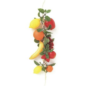 【食品サンプル】 アソート フルーツ ストリング 全長60cm 2本セット オレンジ レモン バナナ グレープ 苺 リンゴ フェイクフード 装飾用品 食品模型 ディスプレイ 装飾