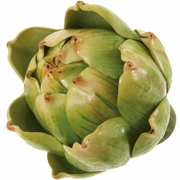 【食品サンプル】デコラ・アーティチョーク・S・直径7.5cm・2個セット(朝鮮薊/ちょうせんあざみ/野菜)(フェイクフード/食品模型/オブジェ)(ディスプレイ)