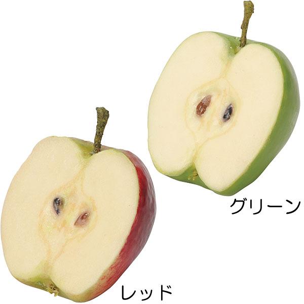 【食品サンプル】カット・アップル・全長8cm・6個セット(リンゴ/林檎/りんご/果物/フルーツ)(フェイクフード/食品模型/オブジェ/アレンジ/花材/装飾)