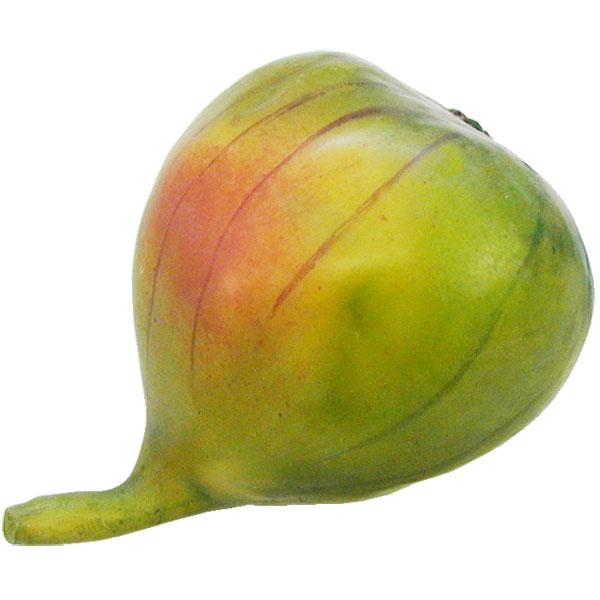 【食品サンプル】イチジク・グリーン・全長7cm・3個セット(いちじく/無花果/果物/フルーツ)(フェイクフード/食品模型/オブジェ)(ディスプレイ/アレンジ)