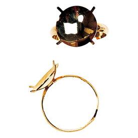 アクセサリーパーツ 台付リング ゴールド 台座直径1.4cm リング直径1.7cm 9個セット 1袋3個×3袋 真ちゅう製 鉄製 花材 資材 アクセサリー アレンジ リングサイズ変更可