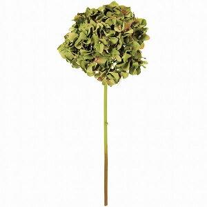 造花 あじさい モーブグリーン 全長46cm ハイドレンジア 紫陽花 アジサイ 七変化 人工観葉植物 アーティフィシャルフラワー 花材 フラワーアレンジメント ディスプレイ 装飾