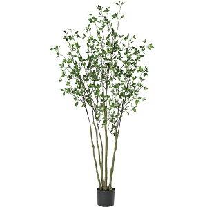 人工観葉植物 大型 ドウダンツツジ 全高2.1m 燈台躑躅 どうだんつつじ 人工樹木 造花 インテリアグリーン フェイクグリーン オブジェ ディスプレイ 装飾