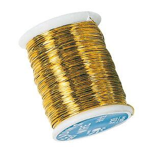 糸針金♯28 ゴールド 1巻46m 12巻セット ワイヤー 資材 花材 道具 手芸用品 フラワーアレンジメント リボンワーク ワイヤリング 茎の補強