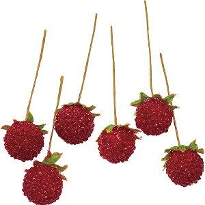 ラズベリー 直径1.5〜2cm 30本セット (フェイクフルーツ 食品サンプル 造花 木苺 装飾 ディスプレイ)