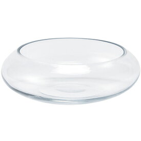 ガラス花器 全高7.2cm×直径20cm ガラス フラワーベース インテリア お洒落 浅型