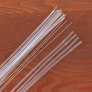 ワイヤープリーズミニ 4束セット 花材 資材 透明ワイヤー ストッパーチューブ ハーバリウム対応
