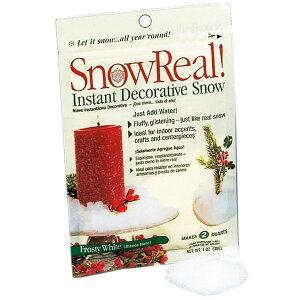 スノーリアル 2袋セット 1袋30g×2袋 雪の演出 フローラル資材 花材 クリスマス アレンジ
