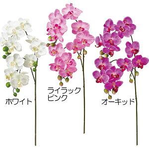 造花 胡蝶蘭 全長60cm 2本セット ファレノプシス コチョウラン こちょうらん 人工観葉植物 アーティフィシャルフラワー 花材 フラワーアレンジメント ディスプレイ 装飾 ギフト お祝い ウエ