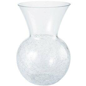 ガラス花器 全高22.5cm×直径14.5cm 透明 クリア 硝子 フラワーベース 花器 花入れ 花瓶 フラワーアレンジメント