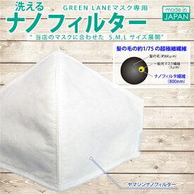 洗える ヤマシン ナノフィルター 高い捕集力 GREENLANE マスク 専用型 飛沫感染予防 日本製