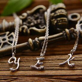 k18 18金 ネックレス レディース ホワイトゴールド ダイヤモンド イニシャル ネックレス 天然ダイヤモンドのプチトップ 一粒ダイヤ ダイヤモンド ネックレス プレゼント ギフト アズキチェーン