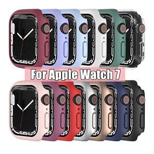 一部在庫発送 Apple Watch Series 7 カバー series7 ケース 41mm 45mm 保護ケース apple watch S7 カバー PC メッキ加工 クリア iwatch Apple Watch 7 ケース アップルウォッチ 保護カバー おしゃれ かわいい 耐衝撃