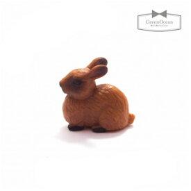 【ミニフィギュア】うさぎのマロン【animal 動物 ウサギ ラビット ビーズアンドパーツ アクセサリーパーツ】