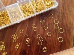 【丸カンゴールド】お買い得・丸カン7種もりもりセットBOX(ゴールド)『レビューでおまけ付き』
