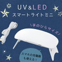 【レジン用品】UV-LEDスマートライトミニ UVもLEDも両方使える!! (6ヶ月保証あり) [ランプ,ネイルランプ,レジン…
