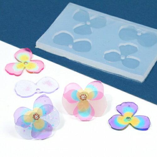 【シリコン型】組み合わせてお花が作れるモールド [UVレジン,華,フラワー,花びら,立体]