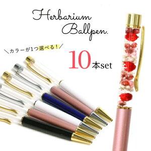 □【ハーバリウムペン】超お買い得・まとめ買い 同色10本セット メール便送料無料 ハーバリウムボールペン本体のみ《選べる6色》[福袋,ドライフラワー]