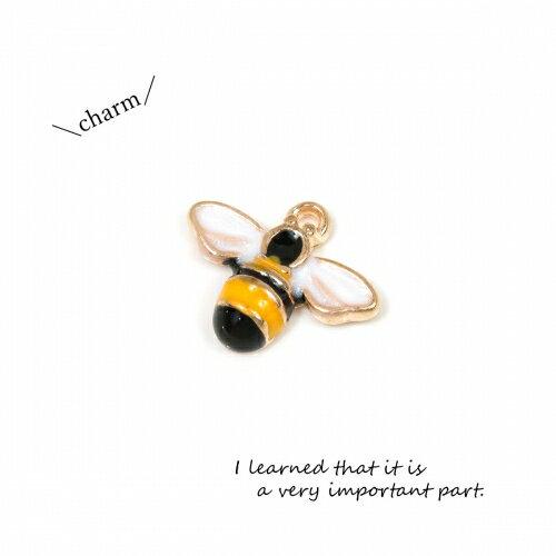 【チャーム】ミツバチ《きれいめゴールド》[昆虫 蜂の巣 蜂 立体 ハチ はち エポ付]