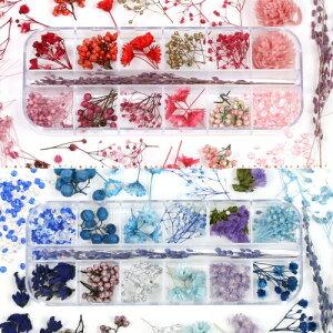 【ドライフラワー】12種+おまけハーバリウムに映える♪ドライフラワーバラエティーセットビジューのおまけ付《選べる2色》[プリザーブド福袋花材レジン]