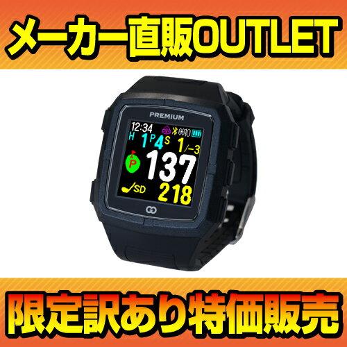 【送料無料】(売り切れ御免!アウトレット品)軽量・薄型の高精度GPS! GreenOn『THE GOLF WATCH PREMIUM』カラーモデル ブラック×ブラック(グリーンオン『ザ・ゴルフウォッチ プレミアム』)[腕時計型][ゴルフナビ][GPS][ナビ][アプローチ][距離計][楽天]【あす楽対応】