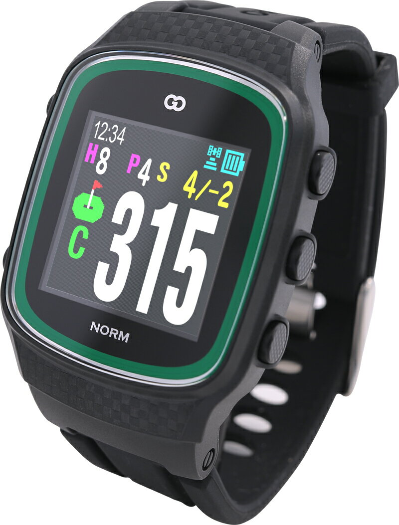 【先行予約】みちびきL1S対応で誤差1mの高精度GPSゴルフナビ GreenOn『THE GOLF WATCH NORM』(グリーンオン『ザ・ゴルフウォッチ ノルム』)[腕時計型][GPSキャディー][GPS][ナビ][スマホ連動][高精度][距離計][楽天]