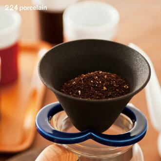 224 瓷咖啡帽子陶瓷咖啡篩檢程式 (咖啡館的帽子和簡單的水、 咖啡滴頭 / 瓷滴持有人 / 紙過濾有害的 / 瓷 / 日本 / 國內生產)。