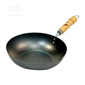 リバーライト 極 ROOTSシリーズ 鉄フライパン [炒め鍋 30cm](j3/ 鉄のフライパン 中華鍋 ガス・IH対応 日本製 /4903449118151)