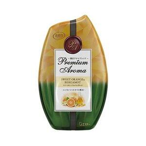 (まとめ)エステー お部屋の消臭力 PremiumAroma スイートオレンジ&ベルガモット 400ml 1個【×20セット】