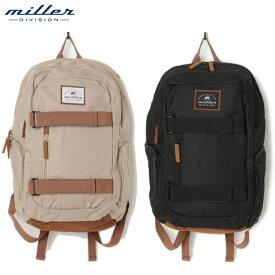 【送料無料】ミラーディビジョン リュック メンズ レディース スケボーバッグ ケース おしゃれ 通学 バックパック 24L Miller Division Escape Backpack 24L デイリーにもアウトドアや通学にも最適 バッグ