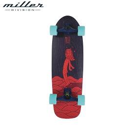 【送料無料】ミラーディビジョン ハングテン スケボー サーフスケート コンプリートスケートボード メンズ レディース キッズ 子供 デッキ幅9インチ Miller Division HANGTEN