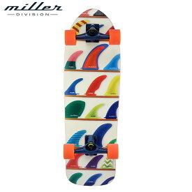 【送料無料】ミラーディヴィジョン ウィール アンド フィンズ サーフスケート コンプリート デッキ スケートボード スケボー メンズ レディース Miller Division WHEELS AND FINS