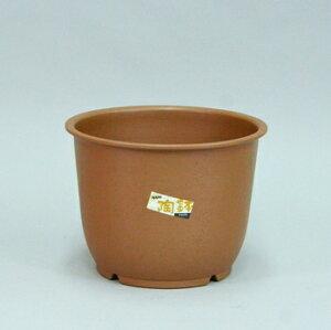 陶鉢 輪型 5号 きん茶 【アップルウェアー】 φ14.8×11cm