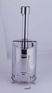 グリーンライフ 落ち葉・庭枝焼却器 60L φ35×全長104cm OED-60S【家庭用焼却炉 ステンレス製 小型焼却炉】