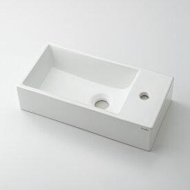 手洗い器 カクダイ リュウジュ 壁掛手洗器 493-083【RSL/壁掛け専用手洗器/専用バックハンガー付き】