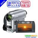 【レンタル】 【6泊7日HC62】 ソニー MiniDVビデオカメラ minidv ビデオカメラ SONY DCR-HC62 minidv ビデオカメラ 【…