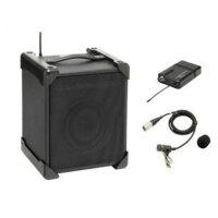 ☆レンタルUHFワイヤレスシステムアンプ内臓スピーカーワイヤレスピンマイク付電池可☆6泊7日audio-technicaATW-SP707ワイヤレスマイク
