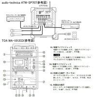 【レンタル】【6泊7日WA-1812CDS】トーアセットワイヤレスアンプCDスピーカーTOAWA-1812CDSアンプ内蔵スピーカーワイヤレスマイク1本CD再生機付