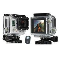 【レンタル】【6泊7日LCD3】ゴープロアクションカメラHERO3BLACK+LCDGOPROCHDHX-301+LCDWi-FiウェアラブルカメラLCD液晶付ヒーロー3ブラックエディションビデオカメラ
