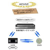 【レンタル】【3泊4日DV-ACV52】シャープHDDVHSDVDレコーダーvhsdvd一体型レコーダーSHARPDV-ACV52VHSDVD一体型レコーダー