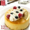 送料無料 バースデーケーキ 【チーズケーキ 誕生日】ガトー・オ・フロマージュ『デコ』 12cm 2〜3名様用【★】*スイー…