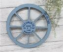 アラモードルー ブルー(MA1874)木製車輪 /カントリー雑貨・ガーデニング・鉢・ジャ...