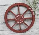 アラモードルー レッド(MA1875)木製車輪 /カントリー雑貨・ガーデニング・鉢・ジャ...