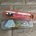 【送料無料】すみっコぐらし 食洗機対応スライド式箸スプーンコンビセット(スプーンとおはし)【かわうそとすみっコキ…