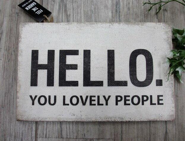 Wood sign board 【HELLO.】DRDG5060 バスサイン/男前インテリア・サインボード・カントリー雑貨・バスロールサイン・看板【板80】/ギフト/プレゼント/クリスマス